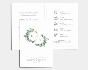 Leafy Hoops - Partecipazione matrimonio con bigliettino