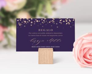 Elegant Glow - Biglietto lista nozze