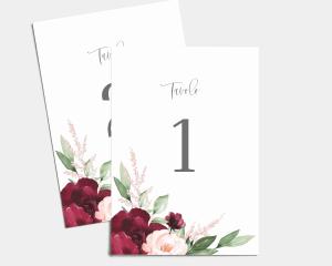 Beloved Floral - Cartoncini tableau Set 1 - 10