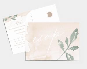 Dusted Calligraphy - Biglietto di conferma presenza (orizzontale)