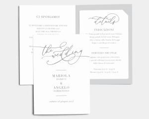 Romantic Calligraphy - Partecipazione matrimonio con bigliettino