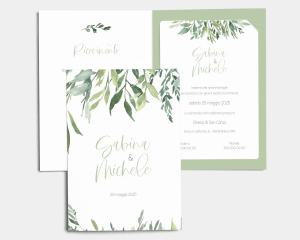 Leaves - Partecipazione matrimonio con bigliettino
