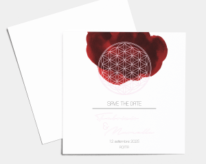 Flower of Life - Save the Date (quadrato)